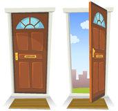 puerta-roja-de-la-historieta-abierto-y-cerrado-32006298